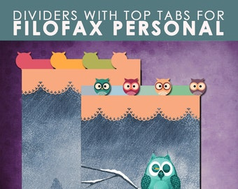 OWLS .... Dividers for Personal planner