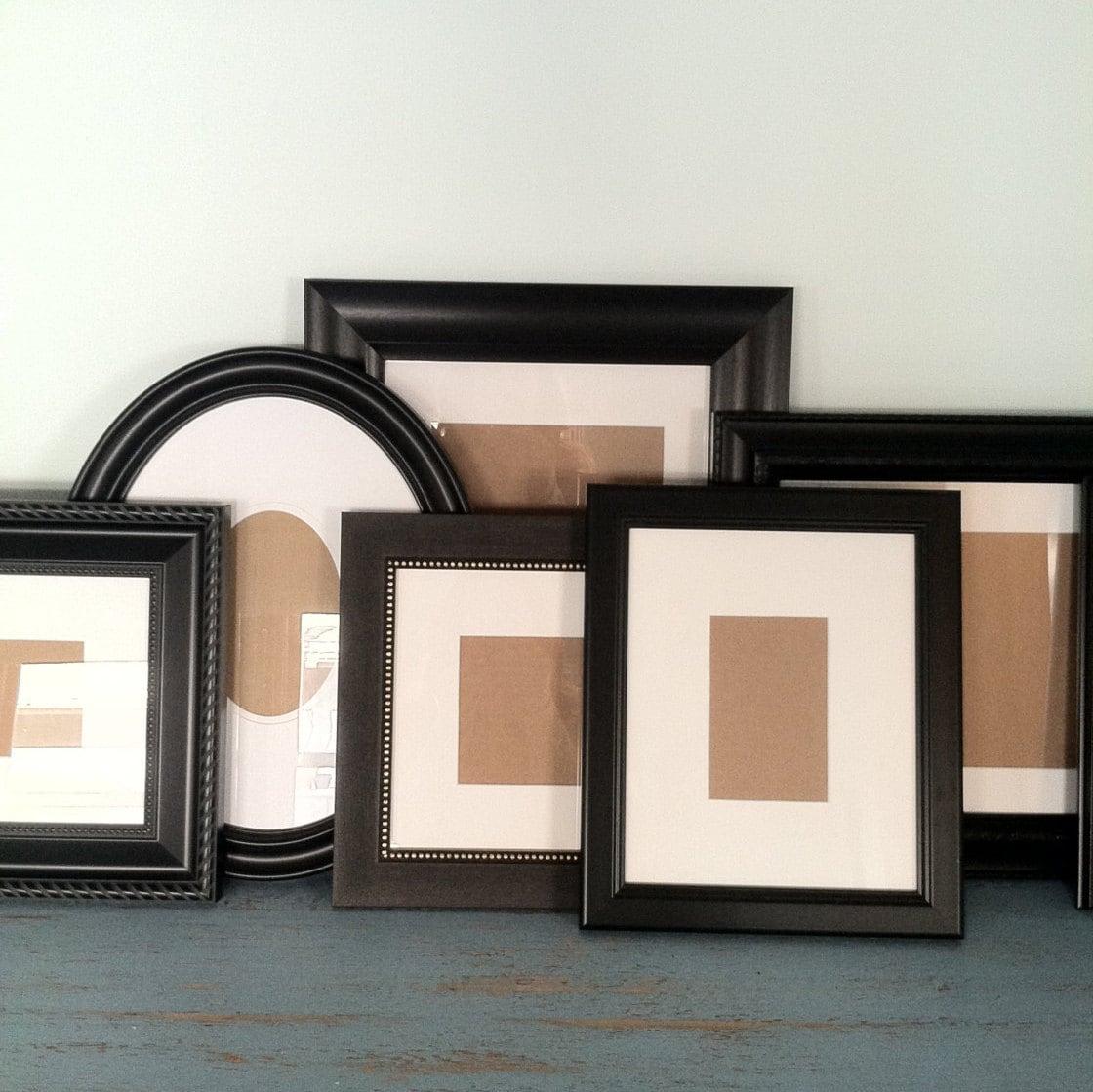 Black Frame Set Custom Wall Gallery Set Of Black By