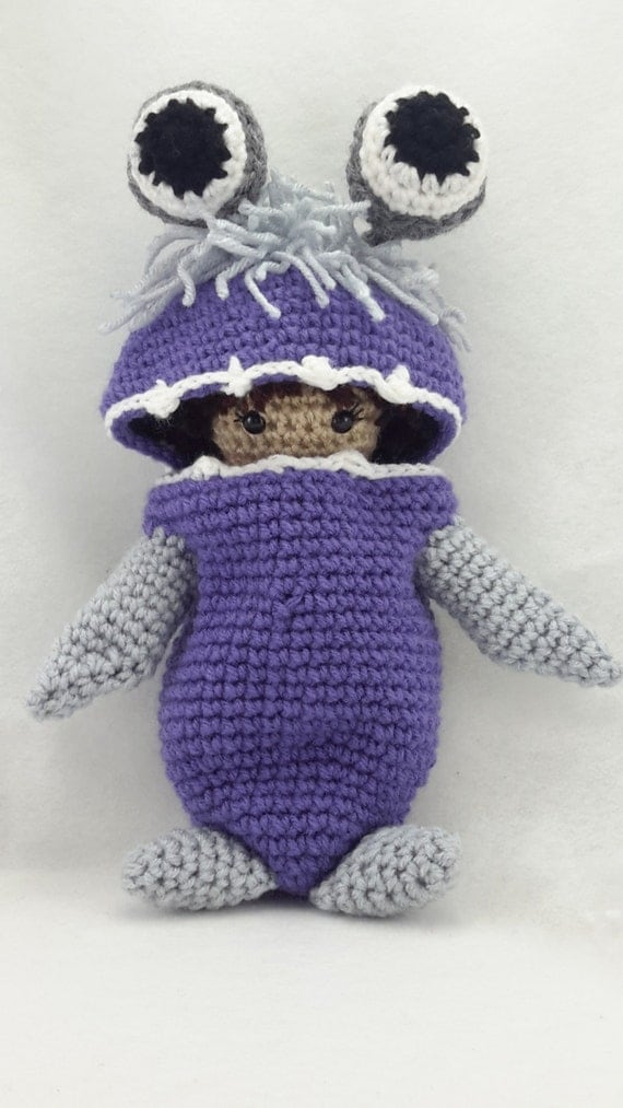 Amigurumi Monsters Inc : Crocheted Boo from monsters inc inspired doll made to order