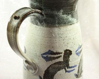 Kokopelli Rabbit Pottery Pitcher by Cherokee Artist Mel Cornshucker