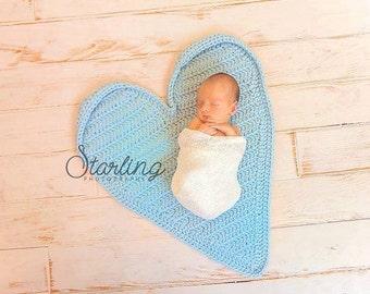 Heart Newborn Photography Mat