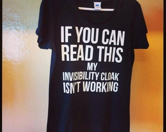 INVIBILITY CLOAK SHIRT