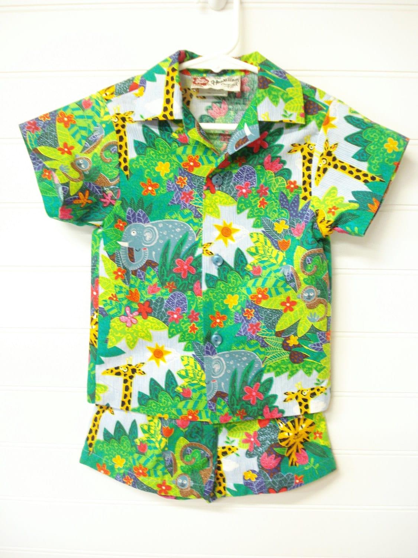 Baby Clothes Hawaiian Print