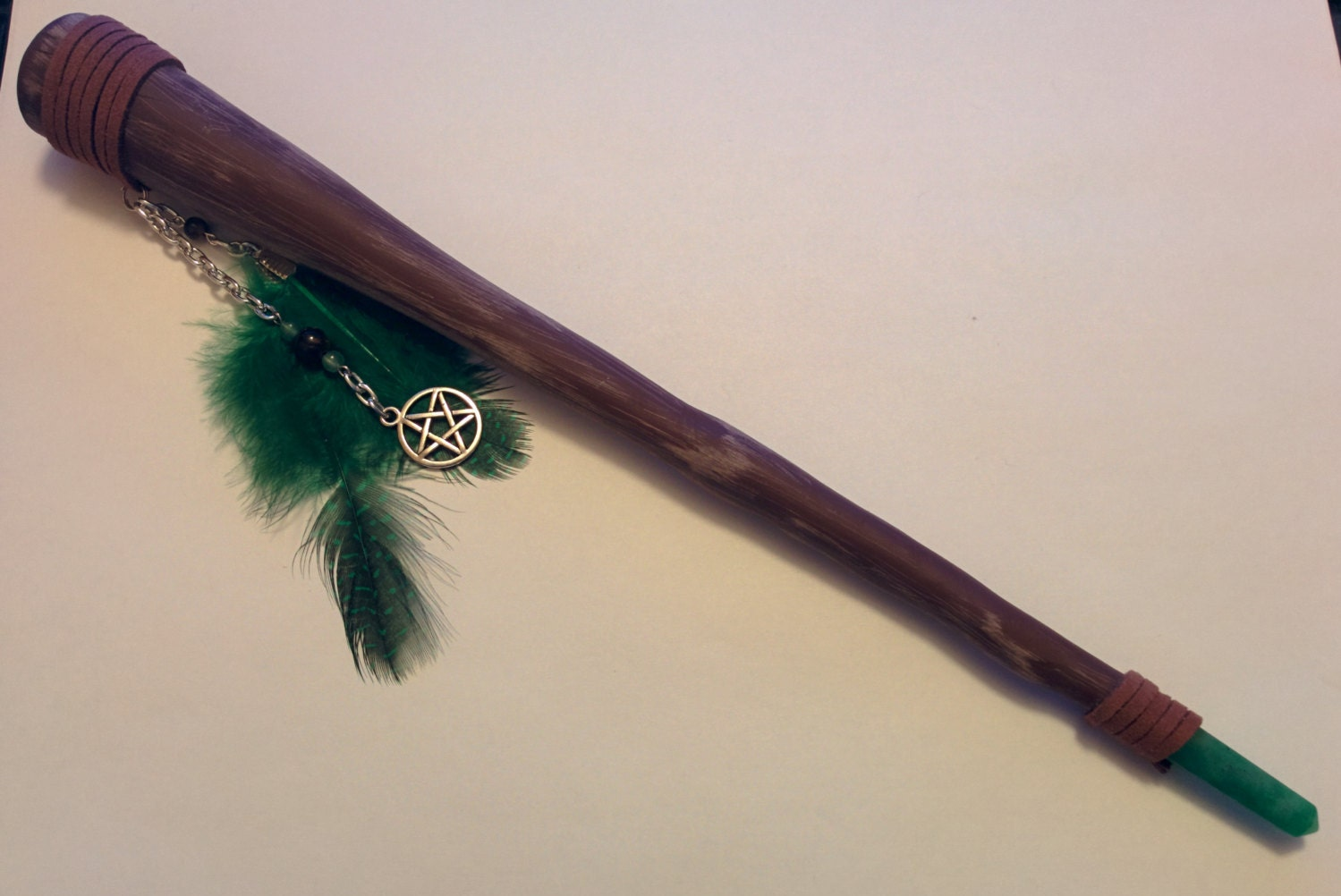 metaphysical polymer clay wand green aventurine tiger 39 s. Black Bedroom Furniture Sets. Home Design Ideas