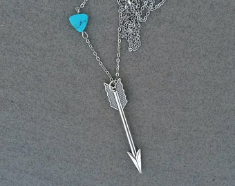 Large arrow necklace,Gift for girlfriend mom wife, Antique silver arrow necklace,Layering necklace, tribal necklace, Boho necklace,Arrow