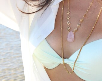 Flow Multi Chain - stacking chain necklace, gold chain necklace