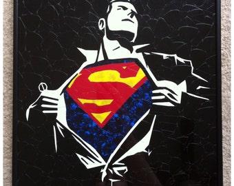 Superman Guitar Pick Art