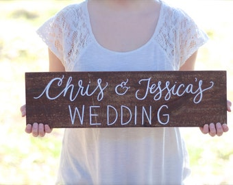 Personalized Wedding Name Sign, Directional Signs, Rustic Wooden Wedding Sign