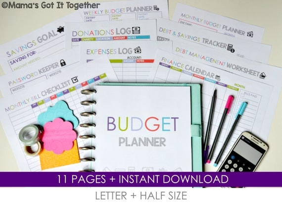 budget planner diy budget organizer letter by mamasgotittogether