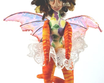 Art Doll-Umina the Sprite OOAK Cloth Doll Faery