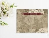 Headband Card Bow Card Display Card design Printable Custom Premade Vintage style floral