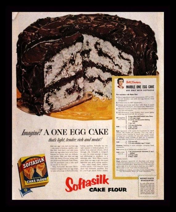1952 Softasilk Cake Flour Ad Marble Cake With Chocolate