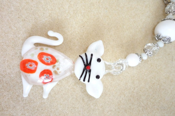 Cat Light Pull Ceiling Fan Pull Beaded Feline By