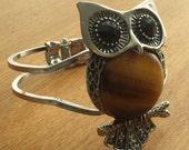 Owl Cuff Bracelet Vintage Hippie Seventies Retro Design Fashion