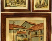 Lot of Three Watercolor Paintings of Southwest Themes- Identical Sizes and Frames- Well Framed and Matted - From Estate of Arizona Collector