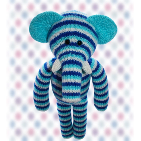 Knitting Pattern Toy Elephant : Elephant Knitted Toy Pattern an extremely soft huggable and