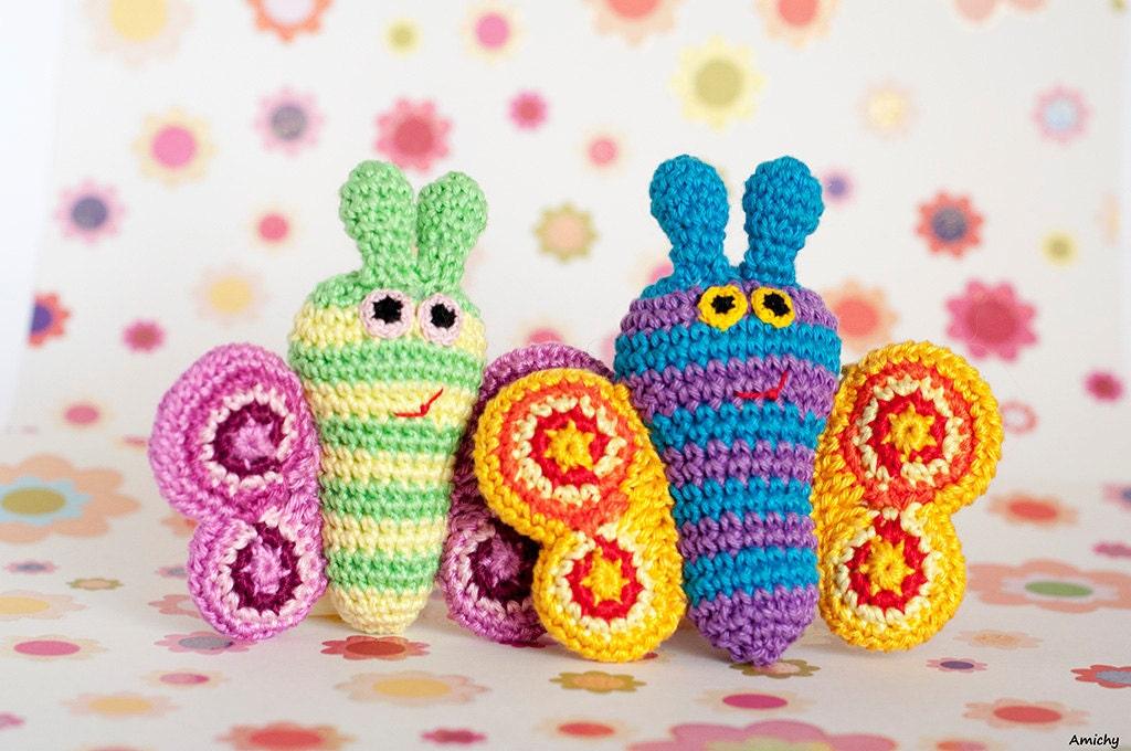 Amigurumi Butterfly Tutorial : Amigurumi Pattern Crochet Spring Butterfly