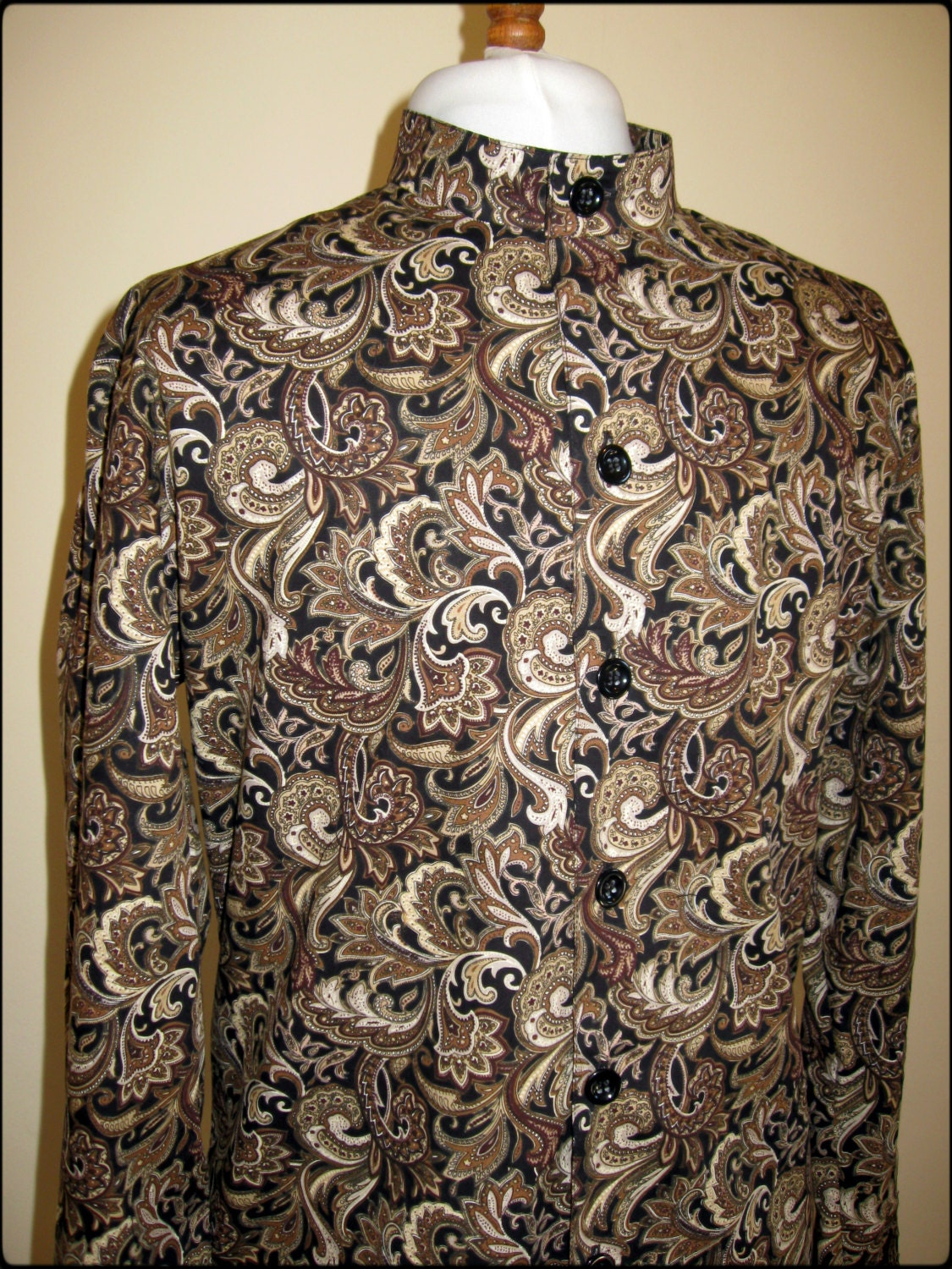 Mens Floral Print Dress Shirt