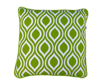 Nicole . Green Apple . Geometric . Lime Green . Feature Pillow . Throw Pillow . Throw Cushion . Hand Made .