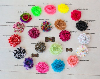 PICK 2-MANY MORE colors-Boutique Style-Shabby Chic Clips-Shabby Clips-Rosette Clips-Hair Clips-Child-Bang Clips-Spring Hair Bows-Baby clips