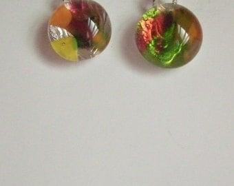 Fused Glass confetti earrings