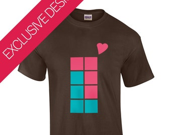 Tetris Tetrominoe Love | Retro Gaming T-Shirt | 100% Premium Cotton | S-XXL