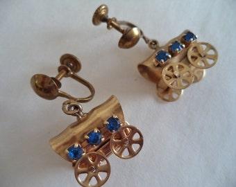 Covered Wagon Rhinestone Earrings