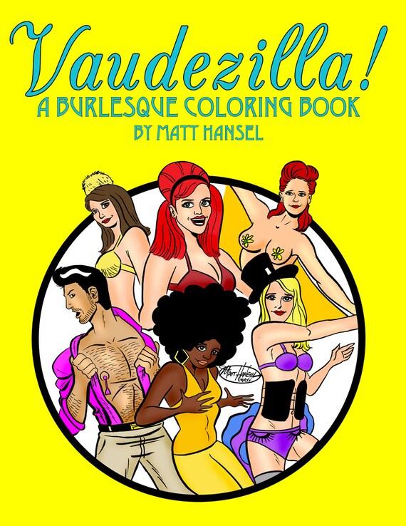 The VAUDEZILLA! Chicago Burlesque Coloring Book
