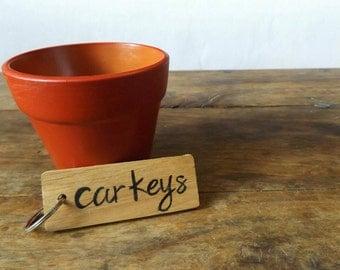 New Driver Gift - New Car Keyring - Car Keychain - Oak wood Keychain - Car Accessory - Gift for Car - Car Keys - Passed Driving Test