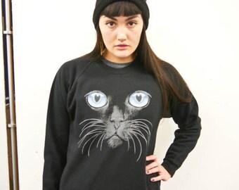 Cat eyes Cat jumper, Cat sweatshirt, Cat sweater, Cat top, Kitten Sweatshirt, Cat Eyes, Meow, Cats, Kittens, Cat, Pets, Animals, Cute, New