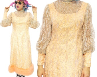 Vintage 60s Fashioned by Lillian Geier Evening Gala Long Gown Dress