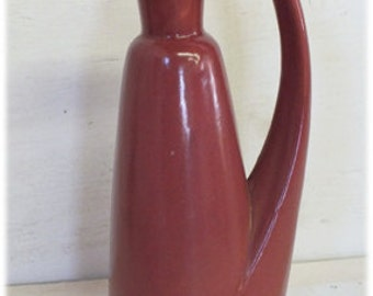 Midcentury Vintage Red Decanter