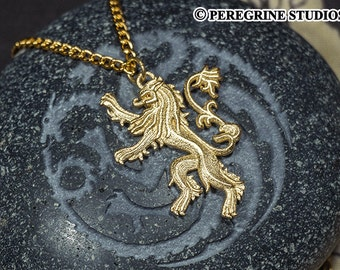 House Lannister Pendant (Gold-Plated Steel)