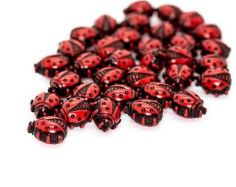 12mm Ladybug Bead 6 Pcs