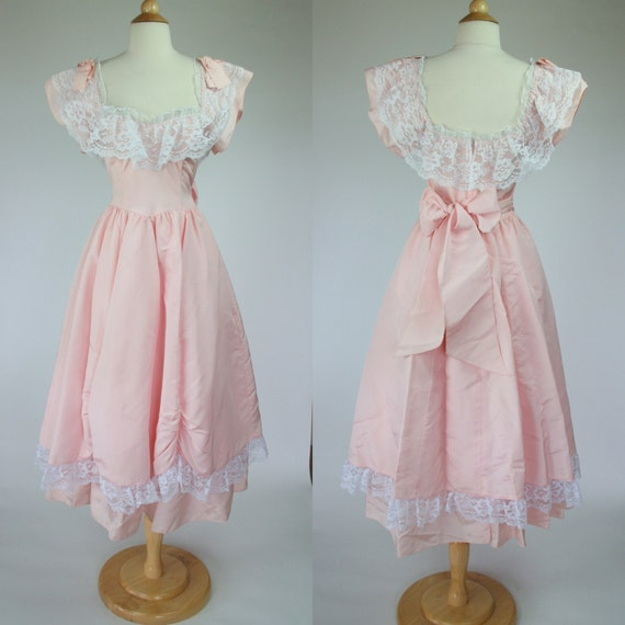 1980 S Pink Prom Dress Jessica Mcclintock Gown Southern