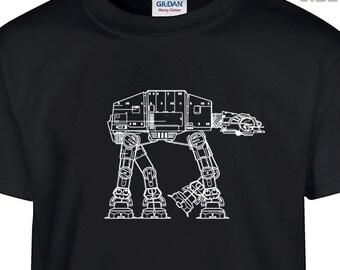 YOUTH / KIDS AtAt Star Wars T Shirt Childrens t shirt Cool Kids Shirts Funny Boys Girls T Shirts