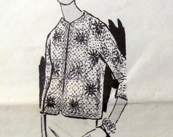 Vintage Crochet Jacket Pattern, Laura Wheeler 785, Ladies Sizes 32 to 46 Inch Bust, Original Pattern