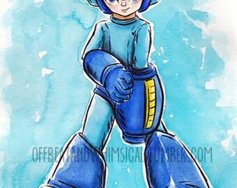 Megaman poster print