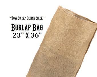 Huge Burlap Sack - Garden Bag 23 x 36