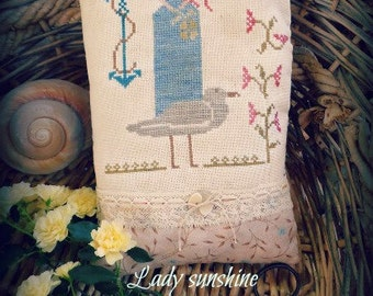 "Lady Sunshine"" cross stitch pattern primitive x stitch"""