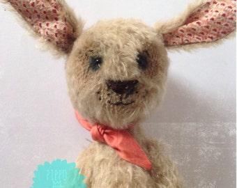 Ooak, Artist toy, rabbit, artist bears mohair.shibori