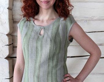 Short-sleeve Linen Blouse