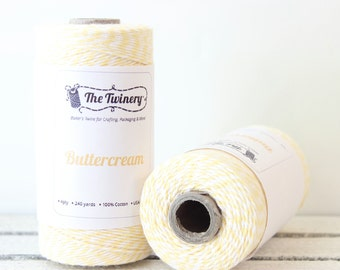 Yellow Twine, Pastel Yellow Bakers Twine, Craft Twine, Packaging Twine, Baby Shower, Card Making, Yellow String, Cotton Twine, Twinery Twine