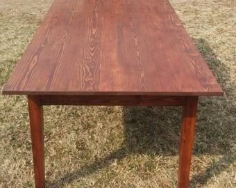 Items similar to farm table reclaimed pine on etsy for Extra long farmhouse table