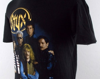 1991 Styx Edge of the Century Vintage Concert Tour T Shirt Large