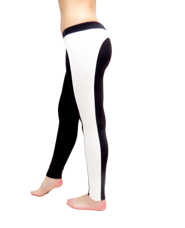 Yoga Pants Black White Leggings Black Yoga Clothes By AncyShop