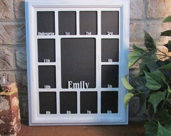 school years picture frame personalized picture frame with any name custom photo frame mom gift k 12 collage school frame custom name