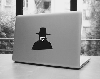 """Anonymous macbook pro and air stickers decal for 11,13,15,17"""""""