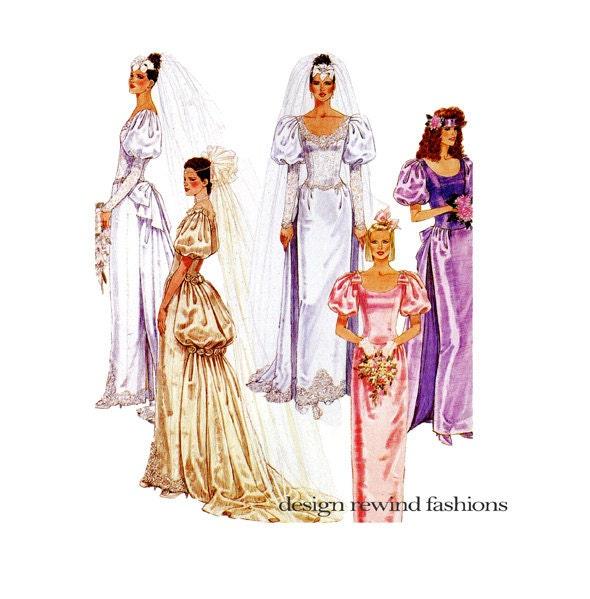 1980s wedding dress pattern bridesmaid dress victorian style for Victorian style wedding dress pattern