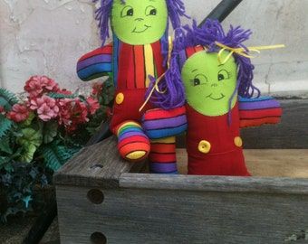 Imagination Dolls with Purple Hair, Zany Doll Friends, Boy and Girl Twin Dolls